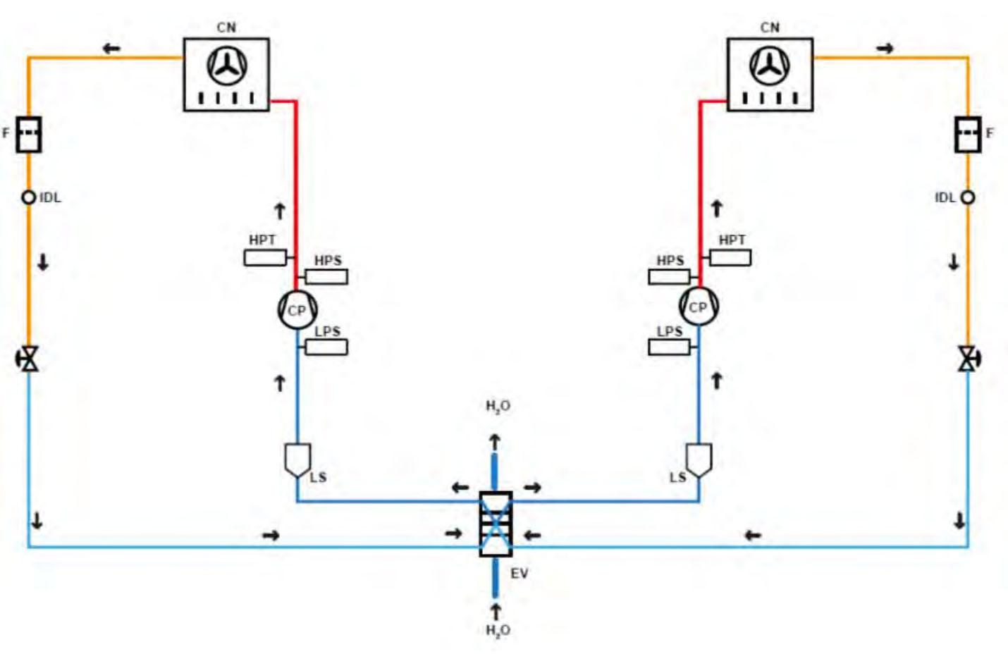 Схема чиллера с воздушным охлаждением